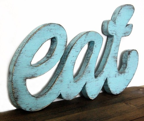 Etsy Find 1 - Eat from OldNewAgain, Vintage Eat Wooden sign, Etsy Find