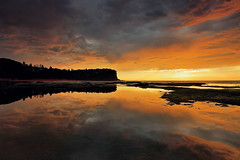 Bungan Reflections (Tim Donnelly (TimboDon)) Tags: seascape sunrise canon australia nsw 5d hitech manfrotto waterscape bungan