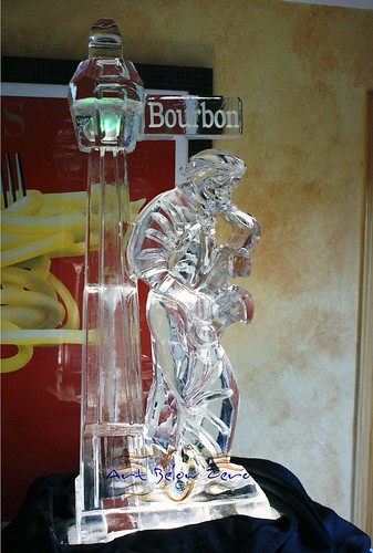 Saxophone Player @ Bourbon St ice sculpture