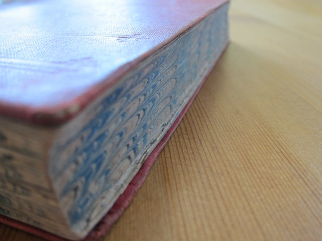 book with marbled edge
