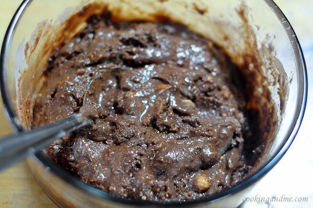 sin huevo sin hornear galletas brownie receta