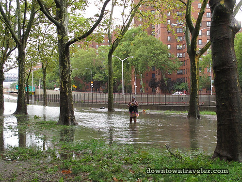 Aftermath of Hurricane Irene in NYC_Flood in East River Park 6