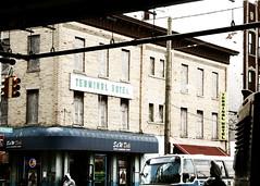 Aptly Named Hotel (mheidelberger2000) Tags: nyc newyorkcity urban bus brooklyn subway coneyisland hotel decay pedestrian transit deli mta trafficsignal mermaidavenue terminalhotel coneyislandstilwellavenuestation