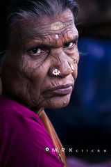 Traces in the face. (MRK Clicks) Tags: old portrait india color lady streetportrait experience tones wrinkles madurai tamilnadu flo