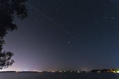 ISS over Orillia (Robert Snache - Spirithands.net) Tags: longexposure lake station space nation first international rama iss orillia startrails couchiching spirithands robertsnache