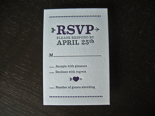 Wine Bottle Letterpress Invitation