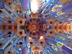 Gaudi em colunas (Rubens.Campos) Tags: barcelona spain espanha europa europe arte escultura igreja gaudi gaud papa catalunya gaud vitrais vitral igrejas sagradafamlia catalunha