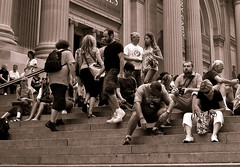 The Met (Sharon Styer) Tags: newyorkcity metropolitanmuseumofart summercrowds alexandermcqueenshow