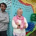 Pat Byrne and Vera McEvoy from the Arthouse in Stradbally with their instillation at Stradbally Hall where preparations are underway for the Electric Picnic which kicks off this Friday. Picture: Alf H