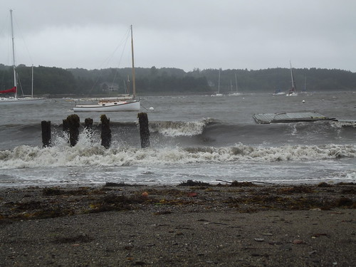 Rough water during Irene