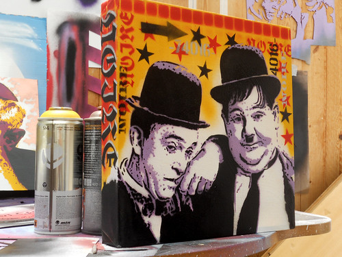 Laurel & Hardy by STENCILNOIRE