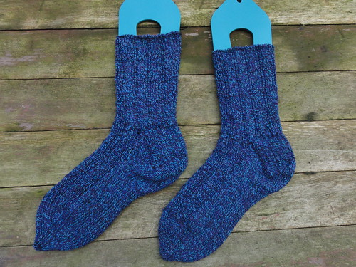 Right-Twist Cable Rib Socks