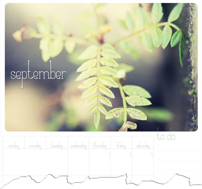 74 Lime Lane ~ September calendar