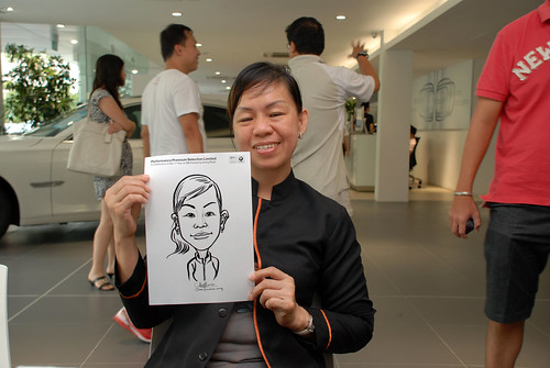 Caricature live sketching for Performance Premium Selection first year anniversary - day 2 - 22