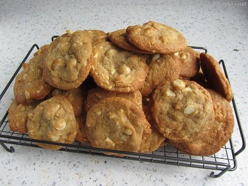Macadamia-Cookies mit weißer Schokolade 001