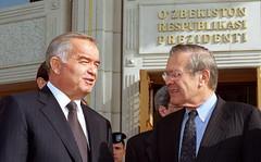 Karimov and Rumsfeld
