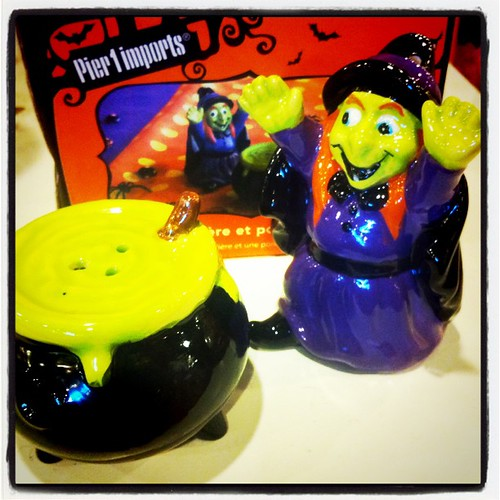 Witchy salt and pepper shaker
