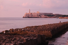 Castillo Sunset (TigerPal) Tags: sunset sea seascape twilight nikon waterfront dusk availablelight havana cuba malecon cuban atlanticocean d300s