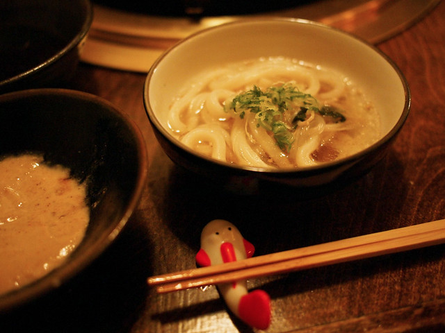 udon at the end of shabu shabu