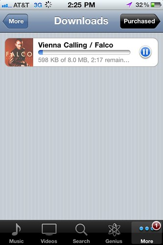 Downloading Vienna Calling by Falco