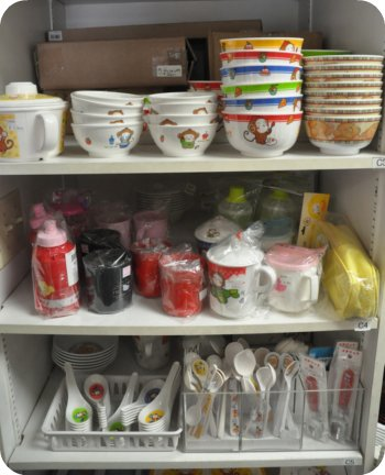 Children's tableware at Global Express