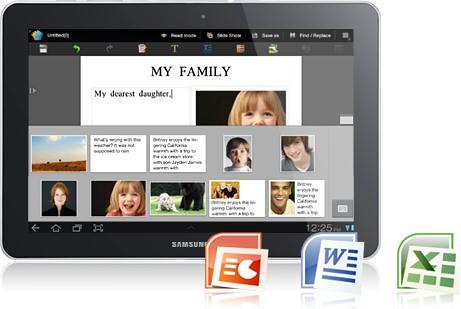 Galaxy Tab 750- office