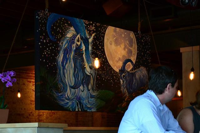 Blue Goat Mural