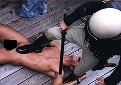 Cop Domination 6 (TBTAOTW2011) Tags: black men leather boot worship uniform shine boots domination police polish lick cop academy abuse prisoner dominant humiliation bootlick