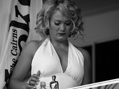 Marilyn (Matthew Kenwrick) Tags: ladies girls party horses blackandwhite bw hot colour sexy beautiful fashion canon vintage hair fun shoes pretty track models young drinking hats makeup style australia curvy racing class september clothes dresses babes queensland tropical horseracing bags females cairns tropics catwalk sunnies sungalsses ladiesday 2011 cannonpark cairnsamateurs cannonracepark