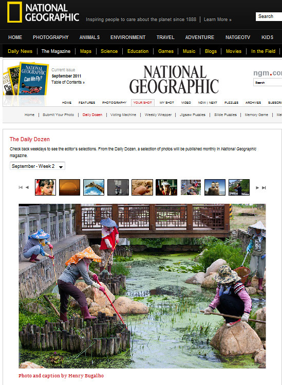 """Women draining a creek"" on National Geographic"
