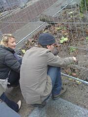 Caroline en broer Kees (de Muur van Geluk) Tags: denbosch shertogenbosch muur scherven geluk demuurvangeluk mozaiek