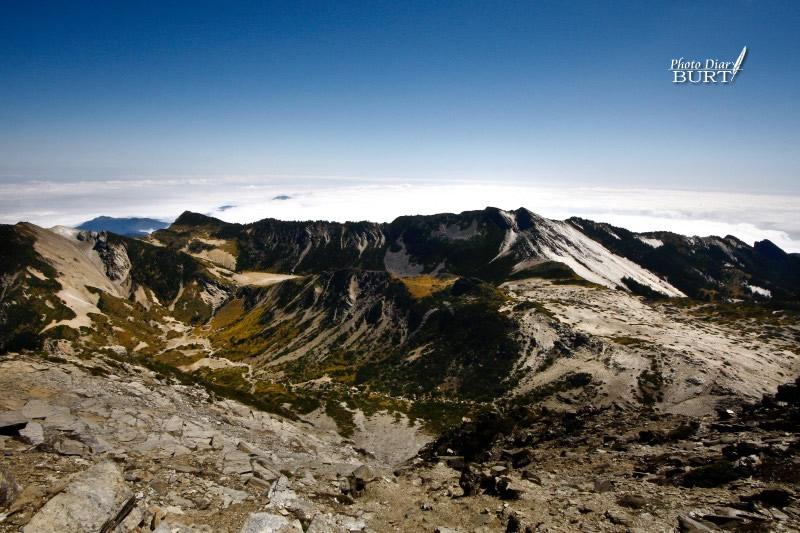 南湖大山上下圈谷