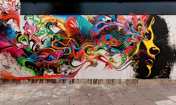 graffiti inspirado en una foto