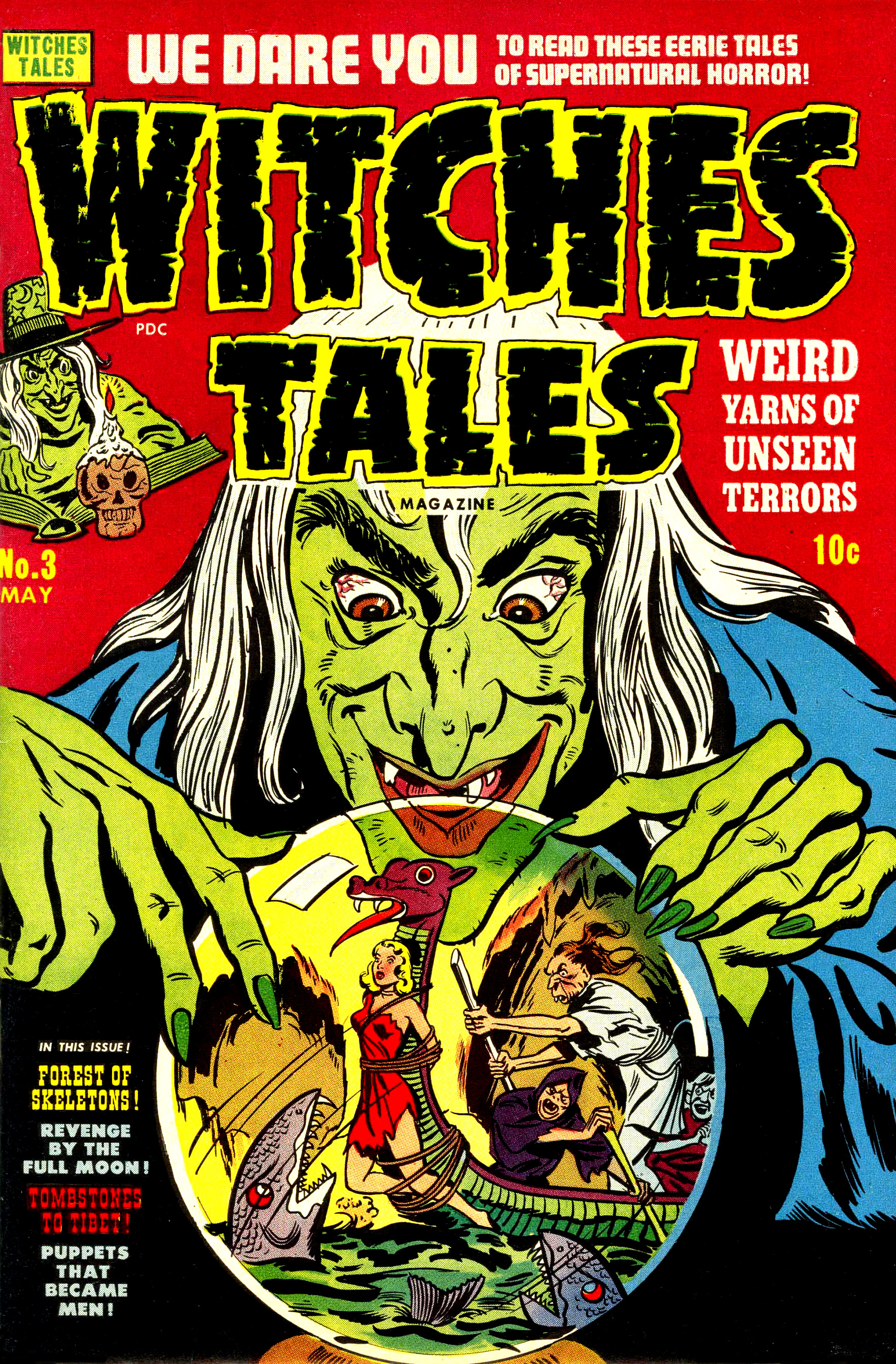 Witches Tales #3, Howard Nostrand Cover (Harvey, 1951)