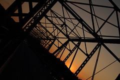 Sky-full of angles (Leica-virgin) Tags: bridge sunset lines silhouette newjersey angles lambertville
