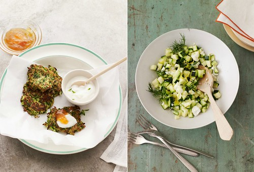 1 Andrew Purcell-Zucchini Fritters Pancakes Feta Dill Salad Woodware