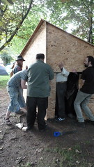 (London Permaculture) Tags: festival engineerswithoutborders 2011 h13 eastmeon sustainabilitycentre darkmountain hexayurt leashless uncivilization vinaygupta