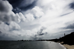 headed into evening (Intentionally Lost) Tags: color reflection beach water clouds ma bay provincetown capecod shore cape giantonio kgiantonio kengiantonio