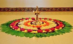 Onam celebrations at home (Shubha Shrikumar) Tags: morning flowers light colors beautiful 35mm wonderful catchycolors ilovenature nikon earlymorning happiness kerala celebrations arrangement onam fragrance diya sadhya lotsoffun godsowncountry pookalam pookkalam flowersmakemehappy lotsofflowers beautifularrangement pookolam artisticbeauty happyonam onamsadhya almost2hrs nikond5100 shubhashrikumar withflowersarounditisalwaysfun brassvilakku gotthisfromkerala wondersofonam chingammonth gotupreallyearly tookmorethananhour thankstoanooj preparedpayasam turnedoutreallydelicious lovedthepookolam cleaningupthehouseafterthecelebrationsisequallytough stillenjoyingthat