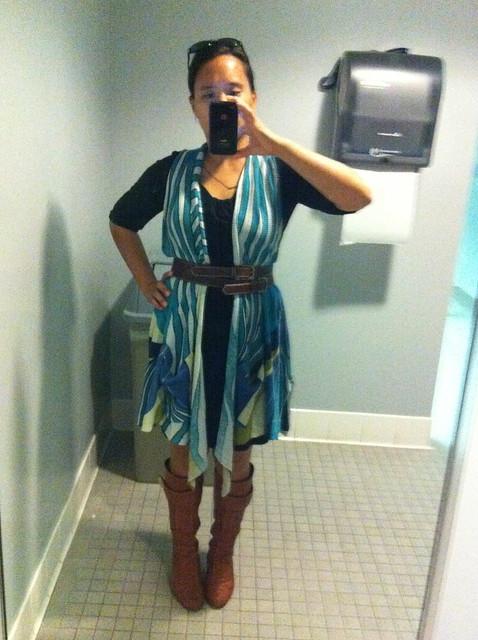 Mirror Shot: Belted Vest