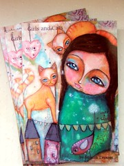 Girls and cats Notebook (Susana Tavares) Tags: girls cats art illustration painting notebook arte artdolls 6x9 caderno notebooks dirio susanatavares ateliersusanatavares meninasegatos
