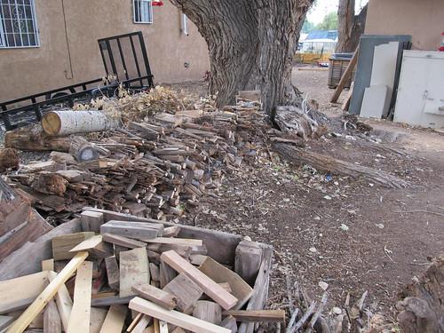 firewood, first step