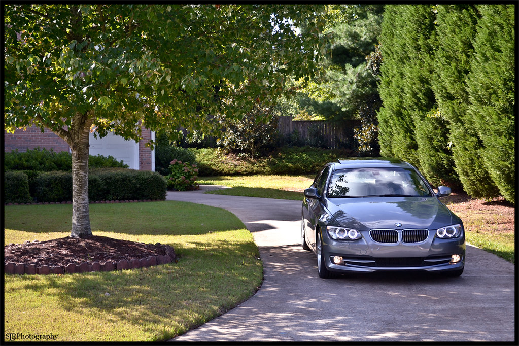 """Bored With Loaner BMW 328i coupe"" Front Shot 3"