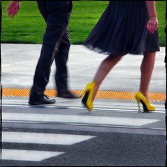 CROSS THE LINE (1crzqbn) Tags: sunlight blur color texture yellow square shadows candid 28 stilettos robada shoefetish hcs artdigital crosstheline trolledproud exoticimage 1crzqbn clichesaturday truthandillusion shoesscavengerhuntcliche