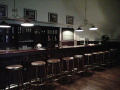 Bar counter at the snooker room