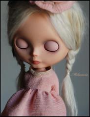 Sami (Melacacia ) Tags: pink alpaca angel doll dress custom marche encore sami sbl samedi blythedoll reroot melacacia caycedanielle