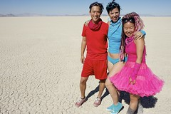 Color Day (wtbzl) Tags: pink blue red nevada burningman blackrockcity brc bm falseprofit blackrockdesert ritesofpassage colorday bm11 burningman2011 bm2011 sidneysultramegafaves2011portraits