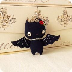 ms batticus (Gingermelon) Tags: halloween handmade witch ghost bat plushtoys feltdolls handembroidery handwovenfelt