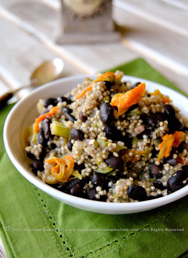 quinoa e fagioli neri