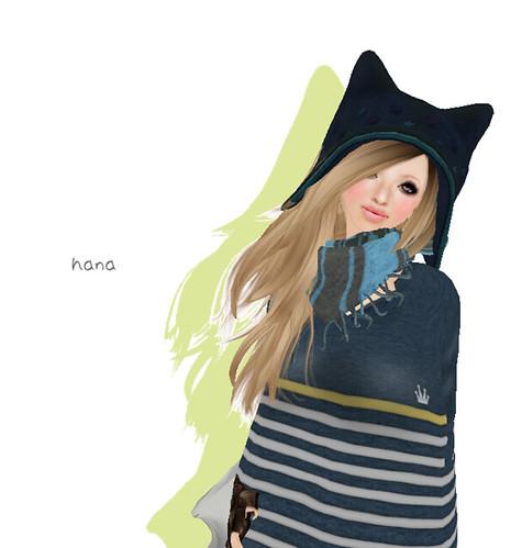 ::K:: Stole blue x charcoal